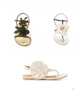flowery sandals