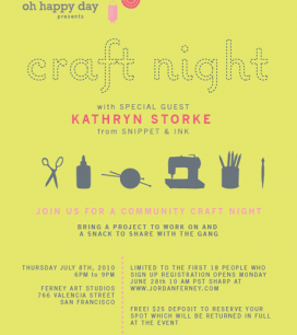 craft night JULY