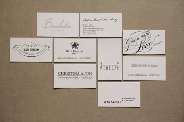 Letterpress business cards on sale edit reheart Images