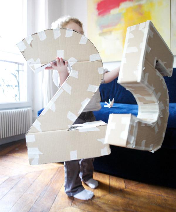 Как сделать цифру из бумаги объемную