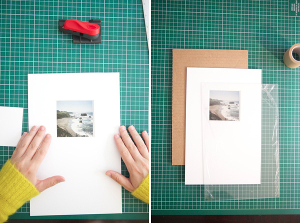 Diy make your own picture frame if you are using plexiglass remove the film on it then stack the plexiglass mat and artwork and cardboard on the back get solutioingenieria Gallery