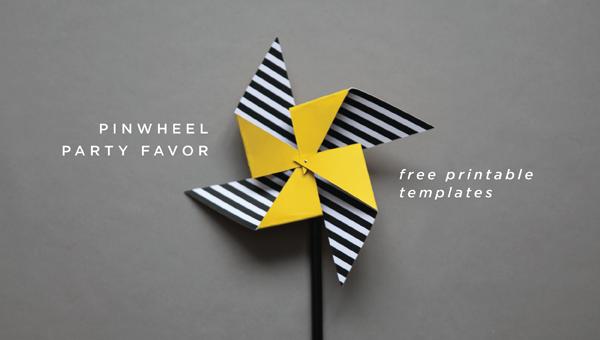 pinwheel party favor diy free printable