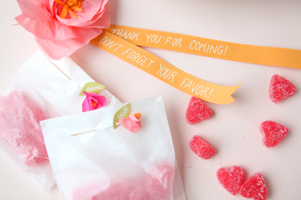 Mini crepe paper flower favors diy materials needed crepe paper toothpicks scissors glue wax paper a hole punch i found the smaller size works better with the toothpicks mightylinksfo