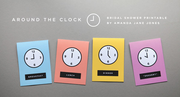 Free Printable Around the Clock Shower Invite