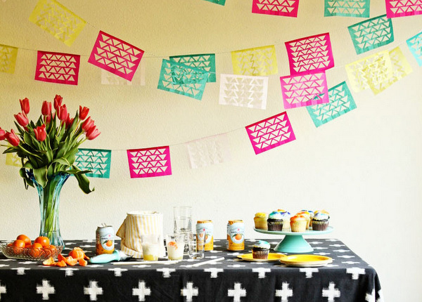 Geometric Cinco de Mayo Fiesta Garland DIY