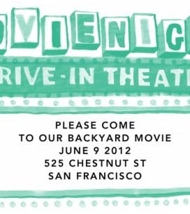 Backyard Movie Night: Invitations