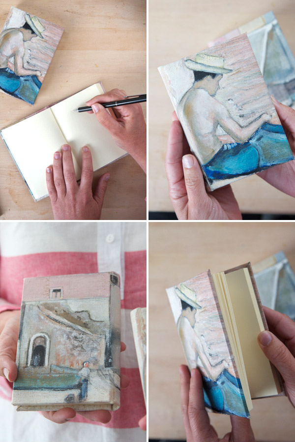 How To Make A Book Cover In Paint : Book cover from a vintage painting diy