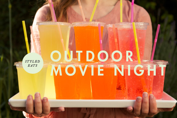 styled eats food for an outdoor movie night