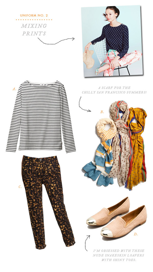 Uniform No. 2: Mixing Prints | Oh Happy Day!
