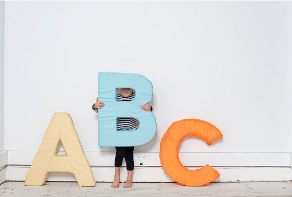 alphabet letter diy With giant foam alphabet letters