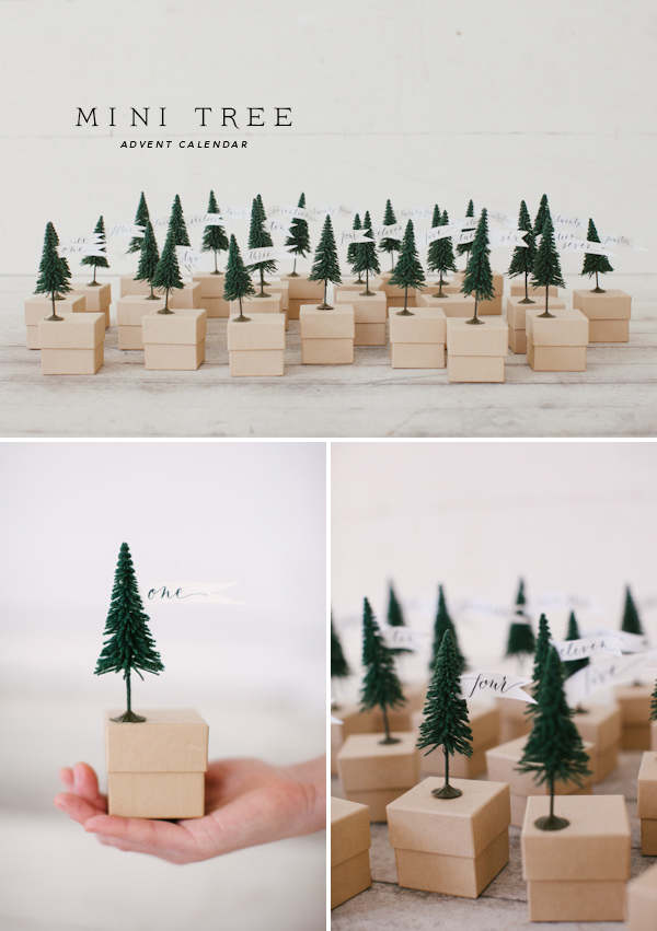 Advent Calendar Diy Template : Mini tree advent calendar free template