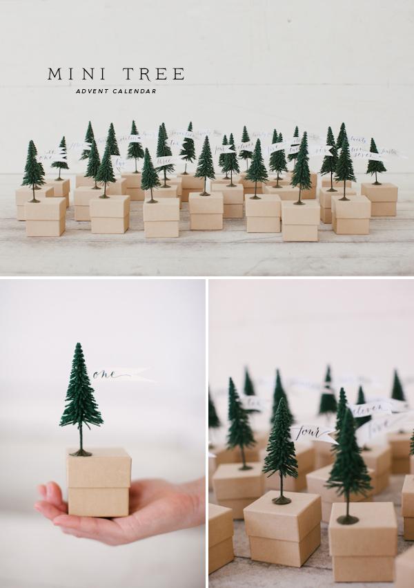 Diy Advent Calendar Tree : Mini tree advent calendar free template