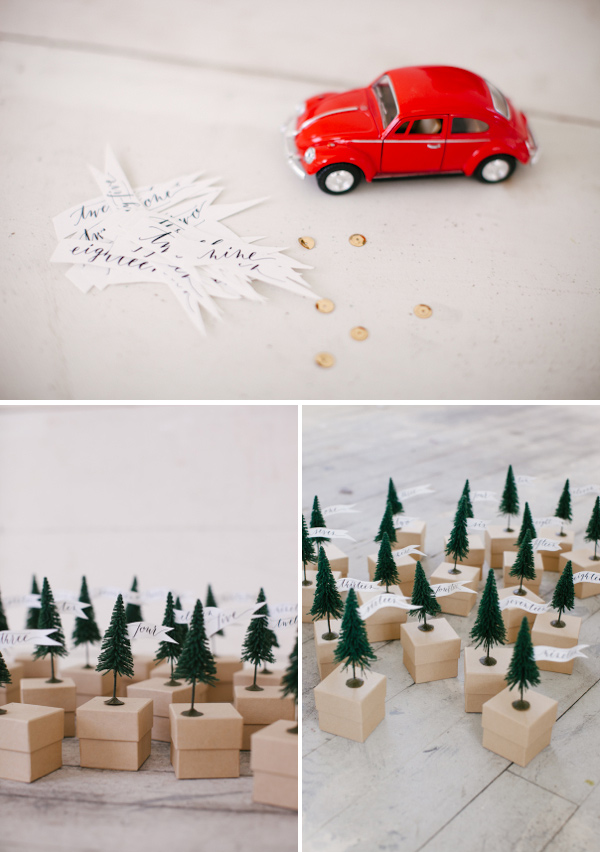Mini Tree Advent Calendar + Free Template