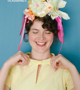 Painted Paper Flower Headbands DIY | Oh Happy Day!