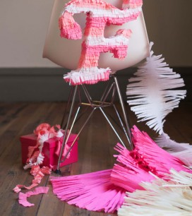 Italic Letter Pinata DIY | Oh Happy Day!