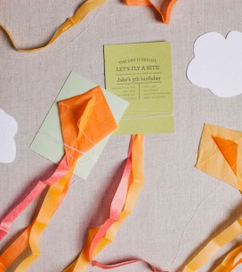 Mini Kite Invitations | Oh Happy Day!