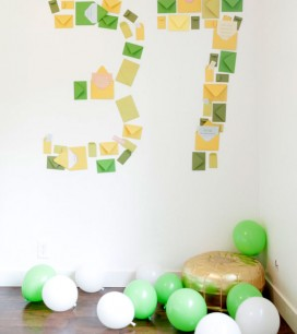 Number Shaped Birthday Notes | Oh Happy Day!