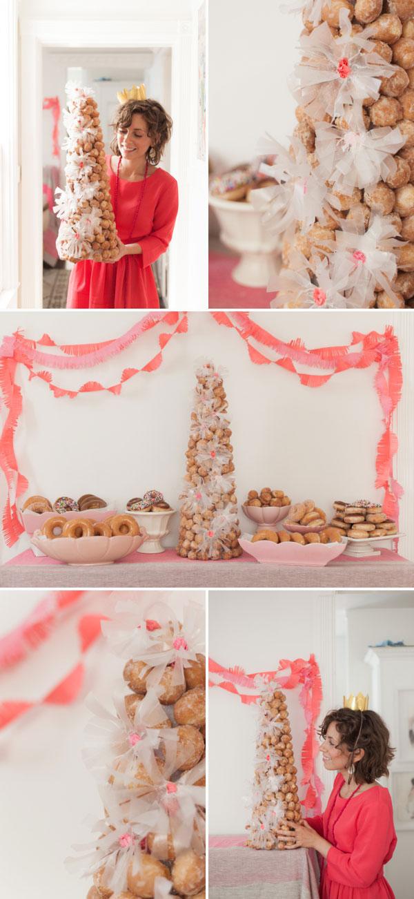 Donut Hole Croquembouche DIY