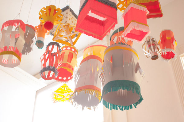 Homemade paper lantern diy for Art and craft for home decoration with paper