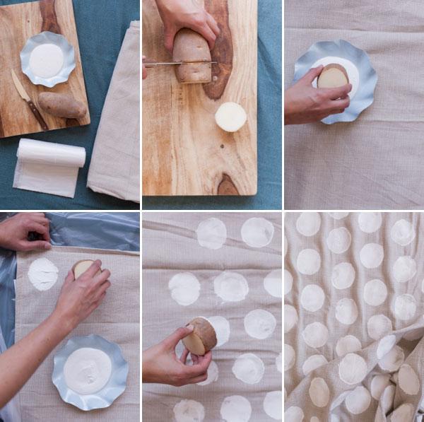 Polka Dot Tablecloth DIY