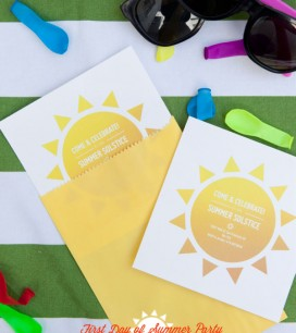 First Day of Summer Party Invitations | Oh Happy Day!
