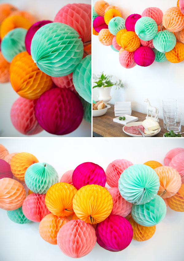 Honeycomb Ball Decorations Amusing Honeycomb Garland Diy Design Inspiration