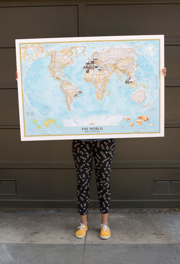 Travel Memory Map DIY – Push Pin Travel World Map