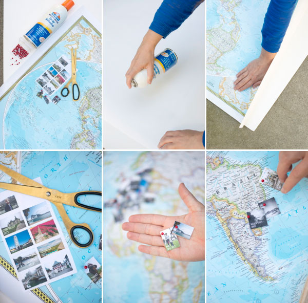 Travel Memory Map DIY – Places I Ve Traveled Map
