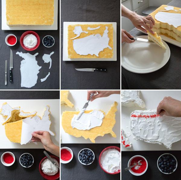 Cake Decoration Step By Step : USA Cake DIY