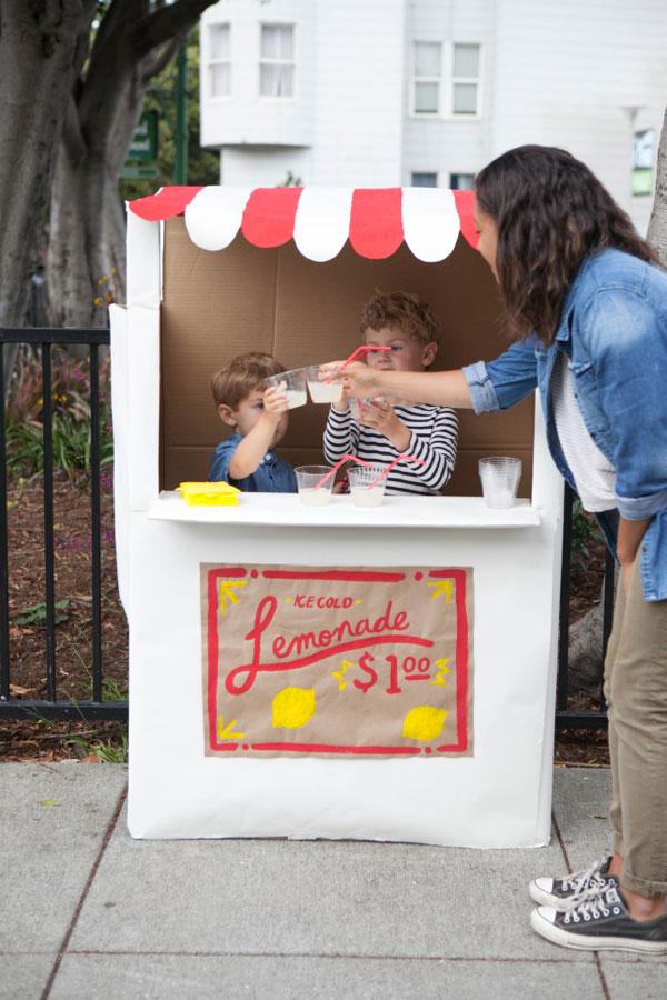 Cardboard Lemonade Stand DIY | Oh Happy Day!