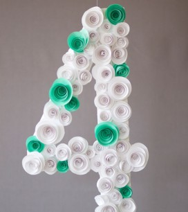 Spiral Flower Number DIY | Oh Happy Day!