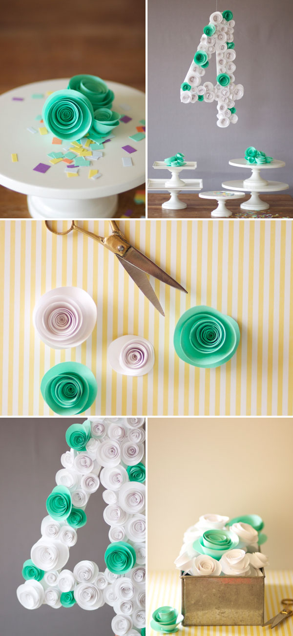 Spiral Flower Number DIY | Oh Happy Day!