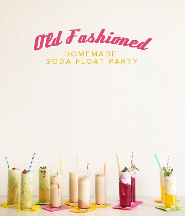 Homemade Soda Float Party DIY | Oh Happy Day!