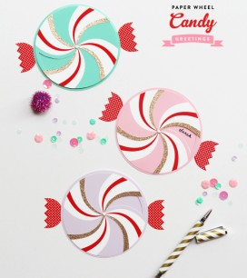 Paper Wheel Candy Greetings
