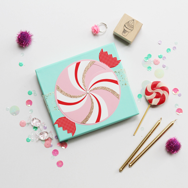 Paper Wheel Candy Greeting