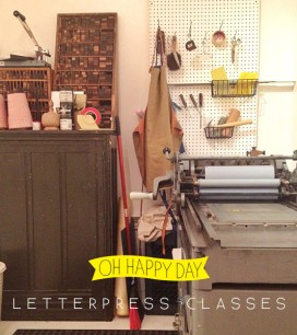 Oh Happy Day Letterpress Classes