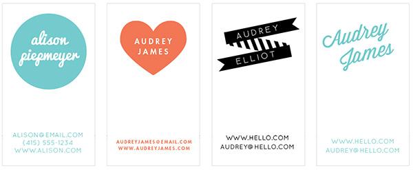 Letterpress Class Cards