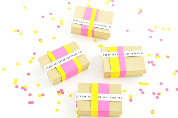 Paper Stripes Favor Boxes DIY | Oh Happy Day!