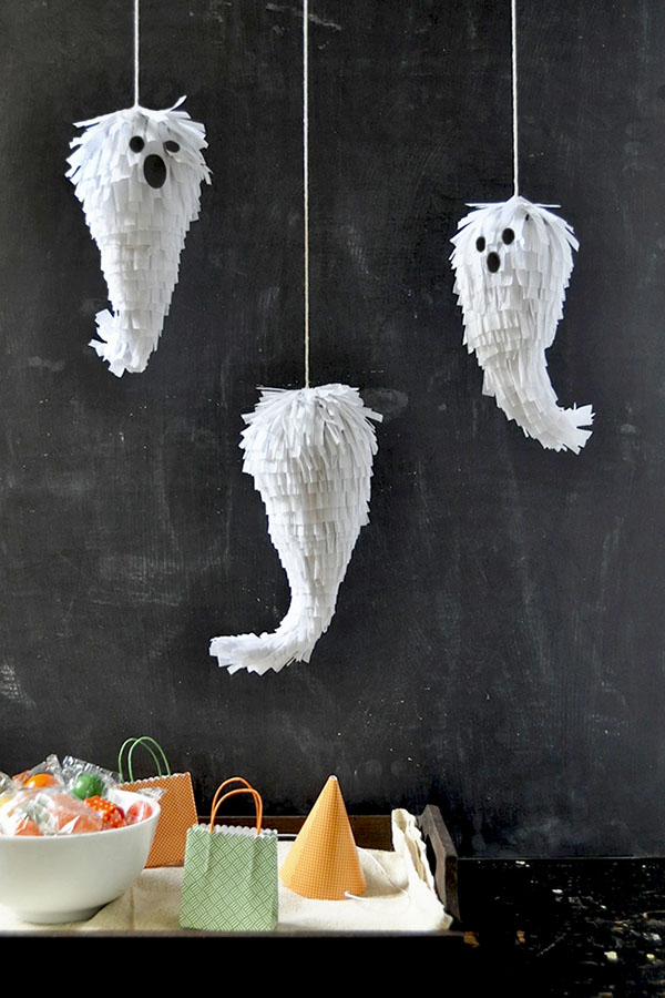 Mini Ghost Piñatas DIY | Oh Happy Day!
