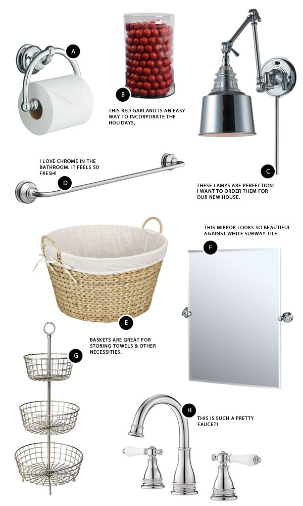 Lowe's Deck the Halls: The Bathroom | Oh Happy Day!