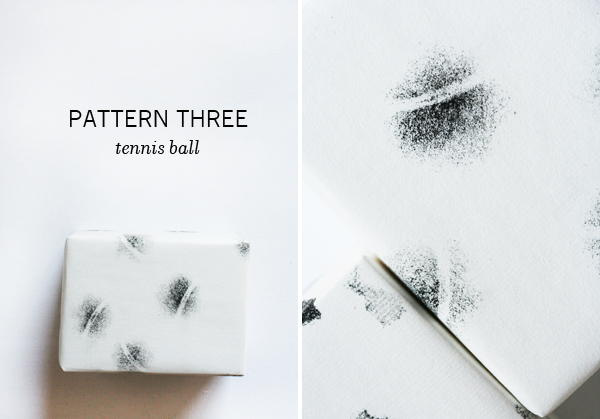 DIY Wrapping Paper (Making Patterns with Balls) | Oh Happy Day!