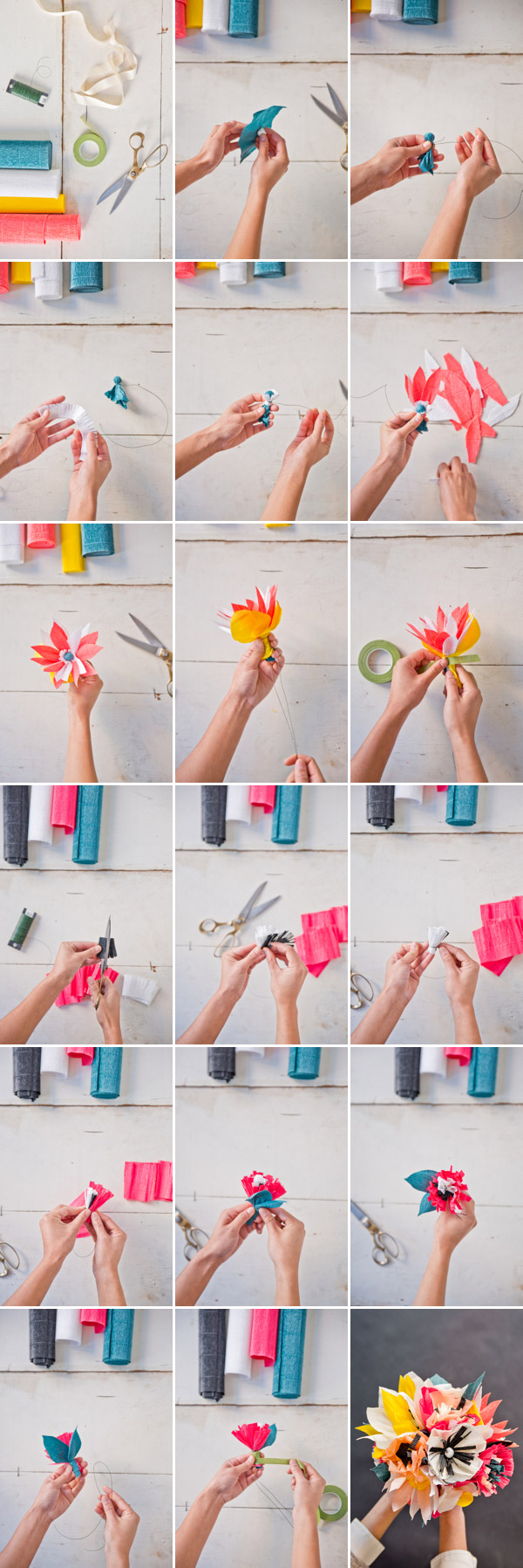 Paper flower bouquet diy paper flower bouquet diy oh happy day izmirmasajfo
