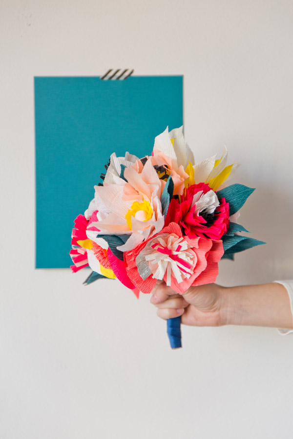 Paper Flower Bouquet DIY