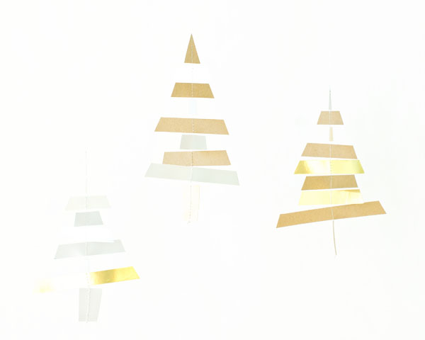 Holiday Paper Tree Mobile DIY | Oh Happy Day!