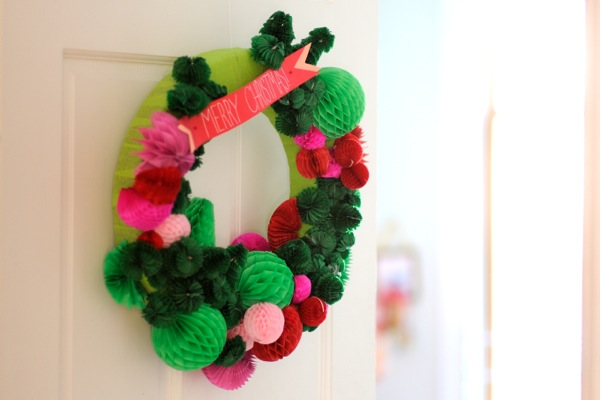 Honeycomb Wreath DIY | Oh Happy Day!