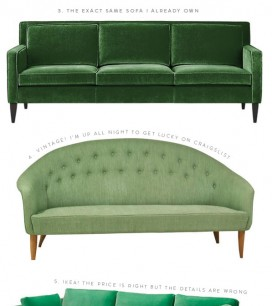 GREEN SOFA HUNT