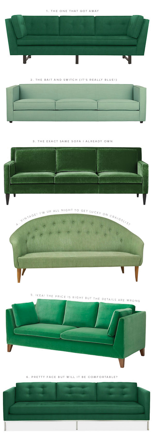 The Great Green Sofa Hunt of 2014
