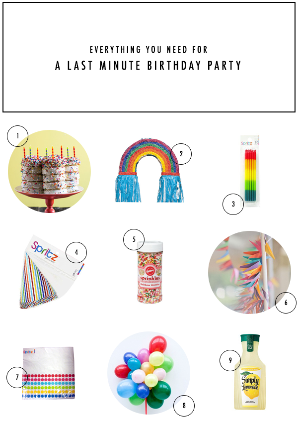 Last Minute Birthday Party | Oh Happy Day!