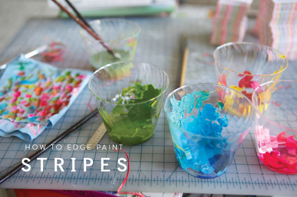 Striped Edge Painting | Oh Happy Day