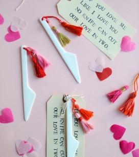 Valentine's Knife + Tassel DIY   Oh Happy Day!